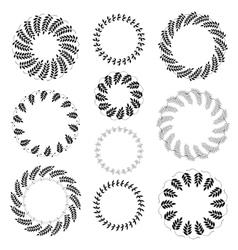 Laurel wreath tattoo set Black ornaments ten vector image vector image