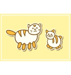 Mother cat and kitten vector image vector image