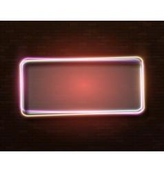 Neon frame vintage bar sign icon vector