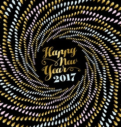 New year 2017 gold mandala art for card design vector