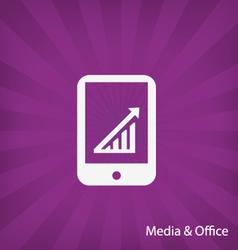 Office media icon vector