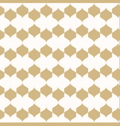 ornament gold and white geometric texture vector image