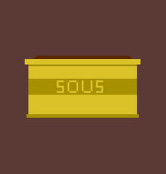 Pixel icon in flat style sauce vector