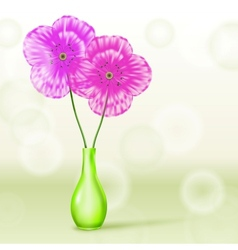 Poppies in Vase vector image vector image