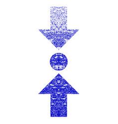 Pressure vertical grunge textured icon vector