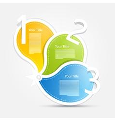 Progress steps for tutorial infographics blue vector