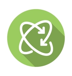 Recycling icon flat style vector