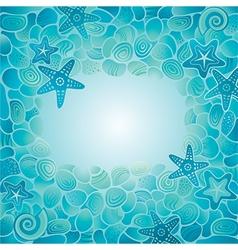 Sea floor card vector image vector image