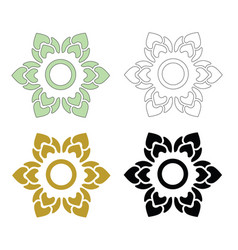 thai pattern flower vector image