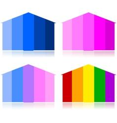 Tonal houses vector image vector image