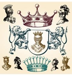 vintage heraldry elements vector image vector image