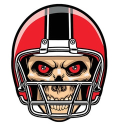 Football player skull vector