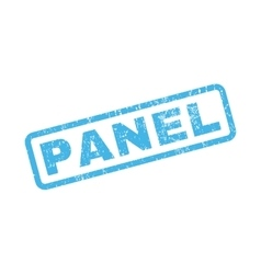 Panel rubber stamp vector