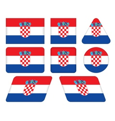 buttons with flag of Croatia vector image
