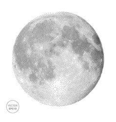 Moon  space abstract vector