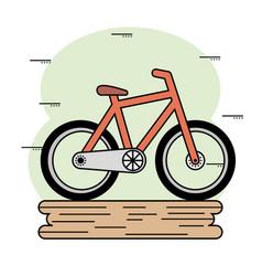 orange bike icon vector image