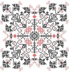 Embroidery ornament vector image