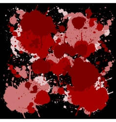 Red ink spots vector