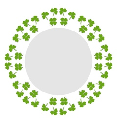 Decorative circular background with clover vector