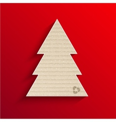 Modern cardboard christmas tree vector