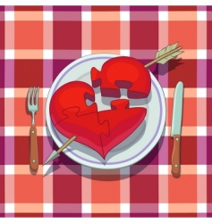 Valentines day lunch vector