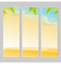 Seascape vacation and travel vector