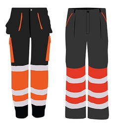 Two worker pants vector