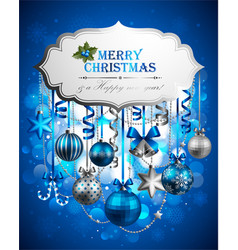 beautiful christmas background vector image