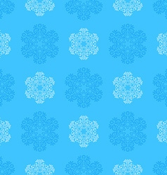 Outline snowflakes seamless pattern vector