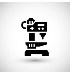 Drilling machine icon vector
