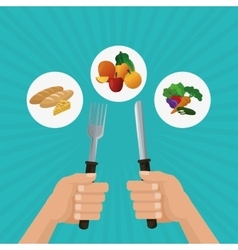 Healthy food design food vector