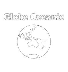 Globe oceanie view vector