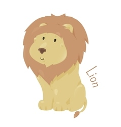 Lion isolated child fun pattern icon vector