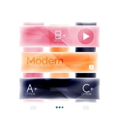 Colorful glossy stripes business infographics vector