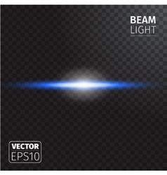 Realistic beam light on transparent background vector