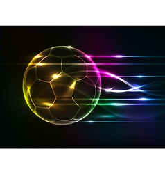 background abstact corlurful football vector image