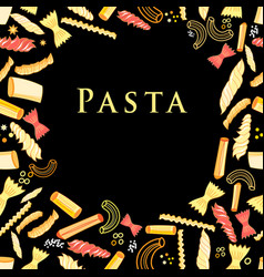 Background with tasty pasta vector