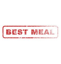best meal rubber stamp vector image