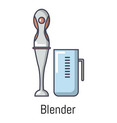 blender icon cartoon style vector image vector image