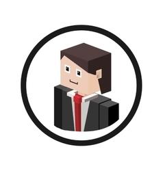 Businessman isometric avatar vector