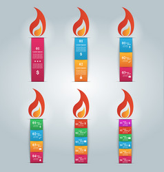 Candle icon with the flame vector