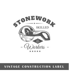 construction labe vector image vector image