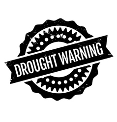 Drought Warning rubber stamp vector image vector image