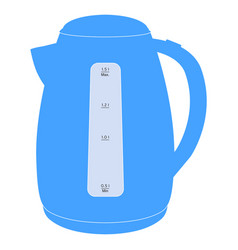 Electric kettle blue icon vector