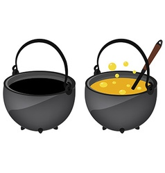 Empty and full magic kettle vector image vector image