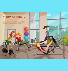 exercise room vector image vector image