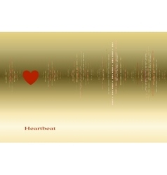 Fall in love heart beats cardiogram design vector