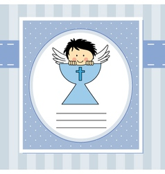First communion card vector image vector image