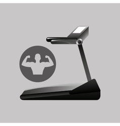 Fitness silhouette walking machine gym graphic vector