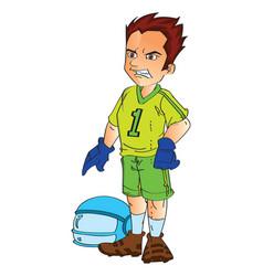 footbal player vector image